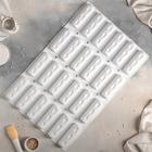 Форма для муссовых десертов выпечки 58×38 см «Батиста», 24 ячейки (12×4 см), цвет МИКС