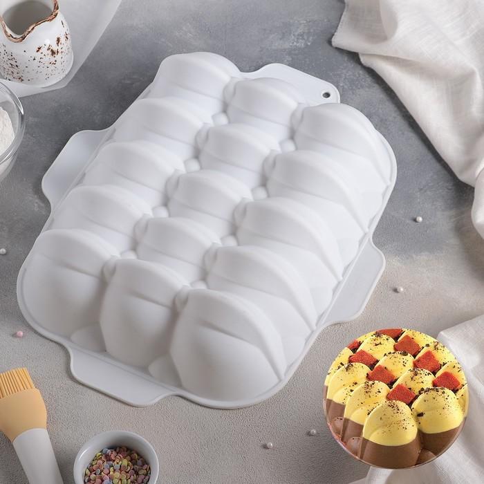 """Форма для муссовых десертов и выпечки 39,5×30 см """"Дориэно"""", цвет белый"""