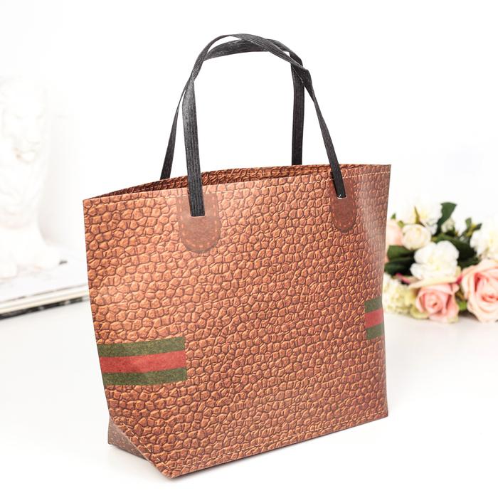 Пакет Крафт сумка 35 х 24 х 10 см - фото 308572534