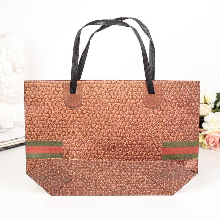 Пакет Крафт сумка 35 х 24 х 10 см - фото 308572535