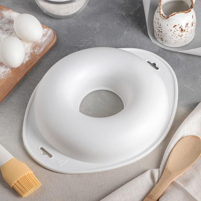 Форма для муссовых десертов и выпечки «Пончик», 29×24 см, цвет белый - фото 308044897