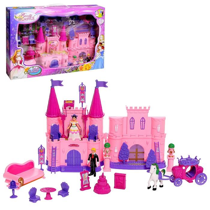 Замок для кукол с аксессуарами, складной, световые и звуковые эффекты