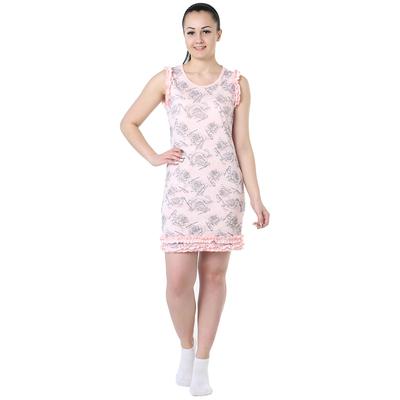 Сорочка женская Валентинка цвет розовый, р-р 46