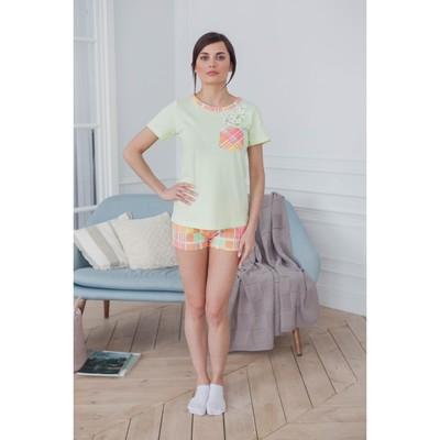Комплект женский (футболка, шорты) ТК-674 цвет МИКС, р-р 52