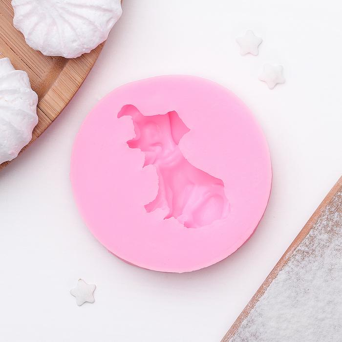 """Молд силиконовый 6,9×1,4 см """"Собака"""""""