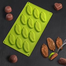 Форма для льда и шоколада «Декор. Перо», 12 ячеек, 29×17 см, цвет МИКС