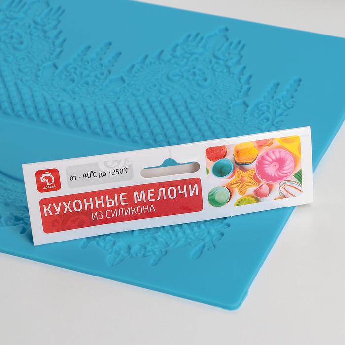 Коврик для айсинга «Торжество», 2 полосы, 39×21,5 см, цвет МИКС