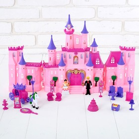 Doll castle with accessories, foldable, light and sound effects