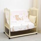 Пододеяльник детский 125*120, зайка-мишка-розовый, бязь, хл100%