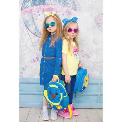 Платье для девочки, рост 98 см, цвет синий ПЛ217