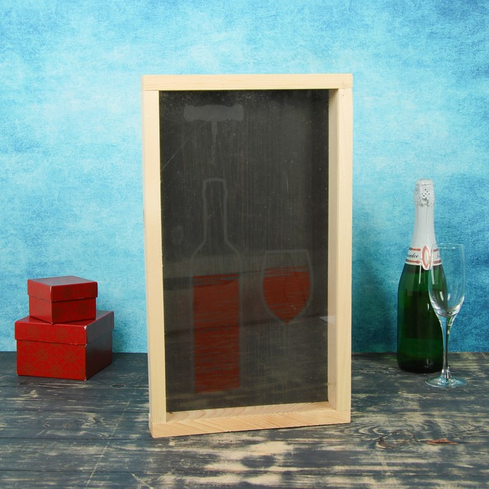 Накопитель для пробок, 48х28х5см, ХВОЯ с УФ стеклом