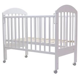 Кроватка детская «Дарина-1», колесо, размер 119 х 60 см, белый