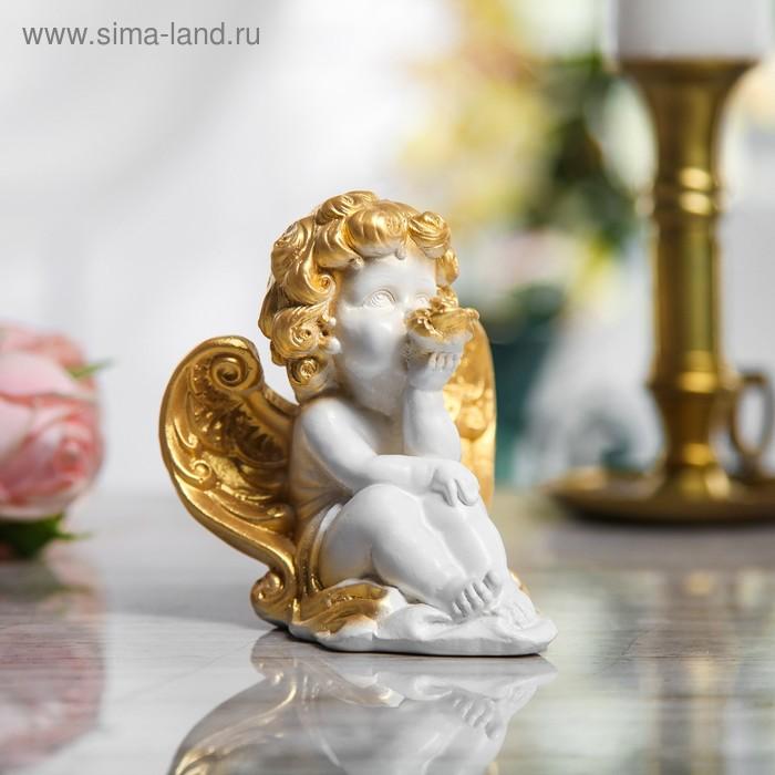 """Сувенир-статуэтка средняя """"Ангел с цветком"""""""