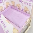 """Детское постельное бельё """"Звездочка"""", 60*120, 104*146, 40*60 см, фиолетовый, бязь, хл100% 120гм"""