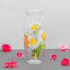 "Vase ""Daisies"" with decal, d-7cm, 10х23 cm"