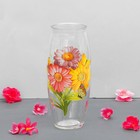 "Vase ""gerbera"" with decal, d-7cm, 10х23 cm"
