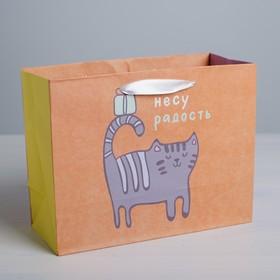 """Package craftily horizontal """"bring joy"""", ML, 23 × 27 × 11.5 cm"""