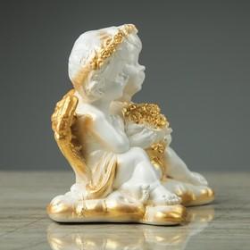 "Сувенир-статуэтка ""Пара ангелов с букетом"", 13 см - фото 1699858"