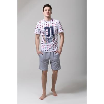 "Пижама мужская KAFTAN ""№1"" р-р XL(50-52), 100% хл.(шорты)"