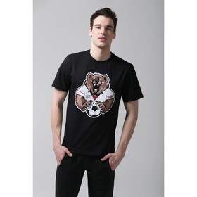 "Футболка мужская KAFTAN ""Медведь"" р-р 2XL (52-54), хлопок 100%"