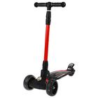 Scooter steel FY-D2B, PU wheel d=130 mm ABEC 7, light, color red