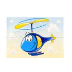 """Пазлы магнитные А6 """"Синий вертолет""""  3369"""