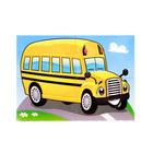 Пазлы магнитные А6 «Детский автобус»