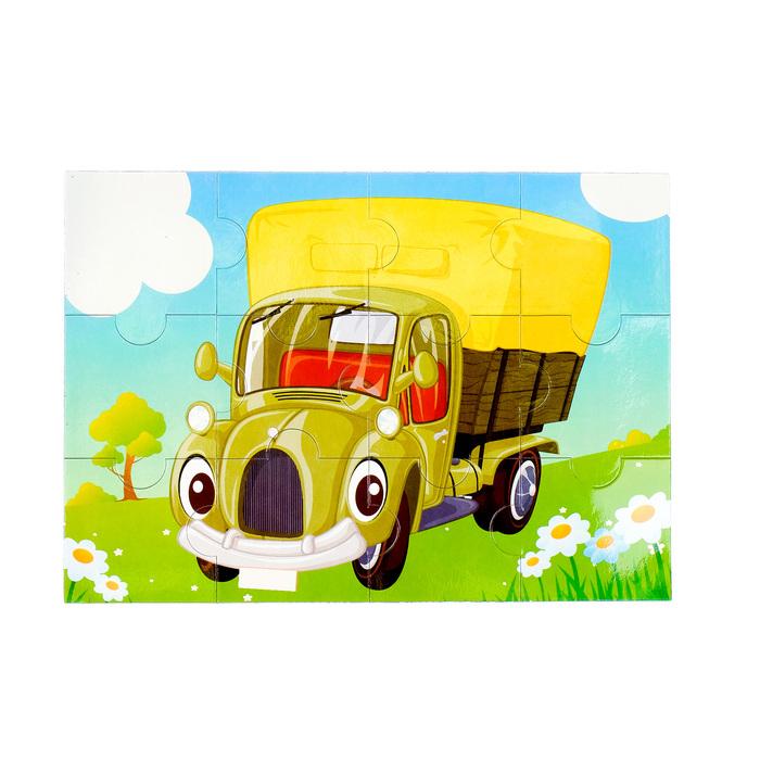 Картинка из крупинок грузовичок