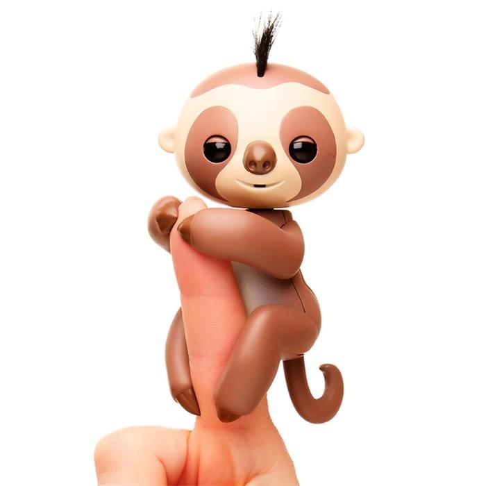 """Интерактивная игрушка """"Ленивец Кингсли"""" коричневый, 12 см"""