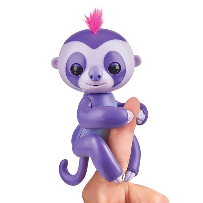 """Интерактивная игрушка """"Ленивец Мардж"""" фиолетовый, 12 см"""