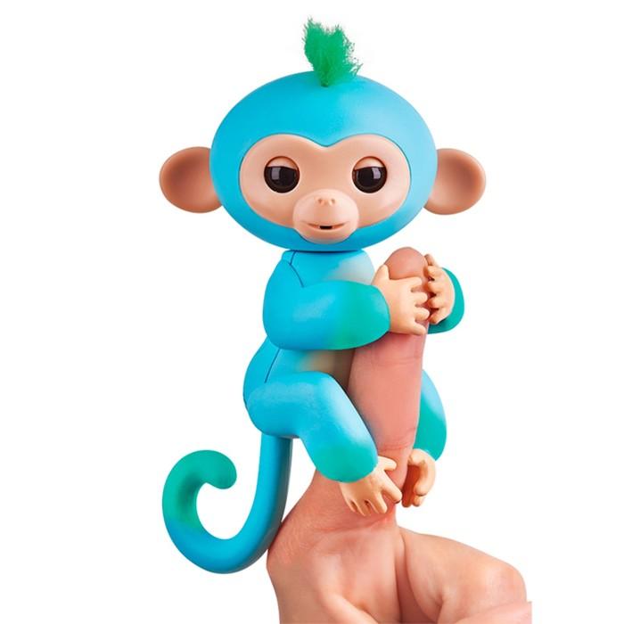 """Интерактивная игрушка """"Обезьянка Чарли"""" голубая с зелёным, 12 см"""