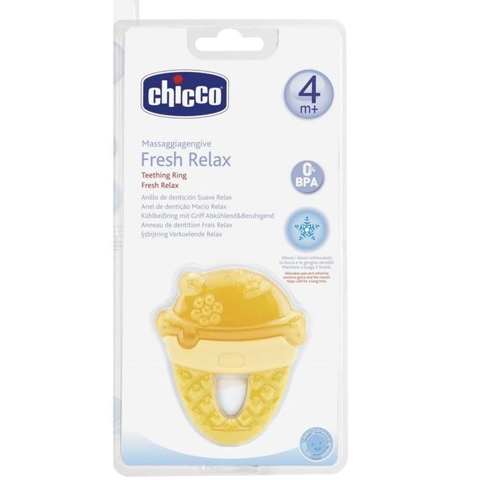 """Прорезыватель-игрушка Fresh Relax """"Мороженое"""", жёлтое, 4мес.+"""