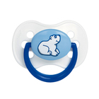 Пустышка круглая Animals, латекс, возраст от 0-6 месяцев, цвет МИКС