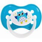 Пустышка силиконовая симметричная Owl, от 6 до 18 мес., цвет МИКС