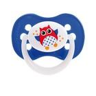 Пустышка симметричная Owl, силикон, от 18 месяцев, цвет МИКС