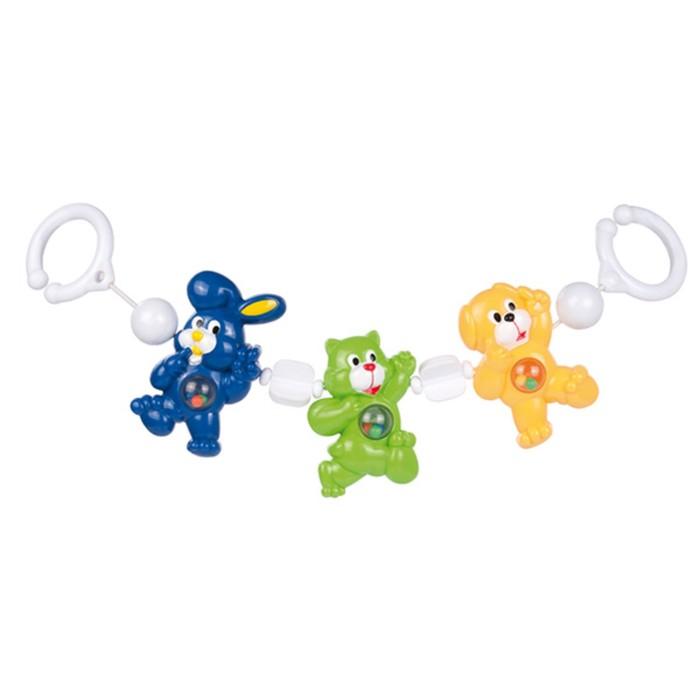 Растяжка на коляску/кроватку «Животные», 3 игрушки