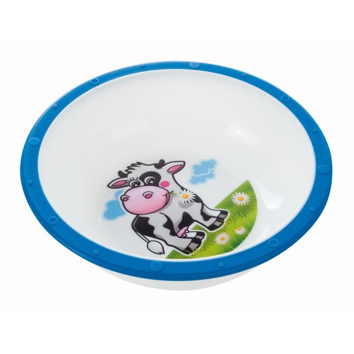 Миска пластиковая Little cow, 270 мл, от 4 месяцев, цвет МИКС