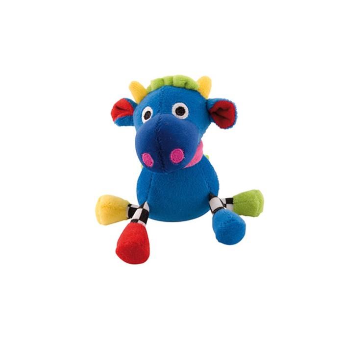 Игрушка мягкая подвесная с погремушкой 0+, форма: бегемот цвет: синий