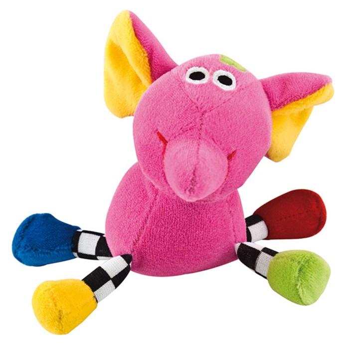 Игрушка мягкая подвесная с погремушкой 0+, форма: слон цвет: розовый