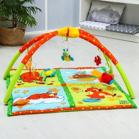 Развивающий коврик «Мишка», с дугами