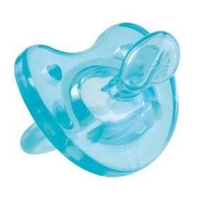 Пустышка силиконовая ортодонтическая Physio Soft, от 0 до 6 мес., цвет голубой