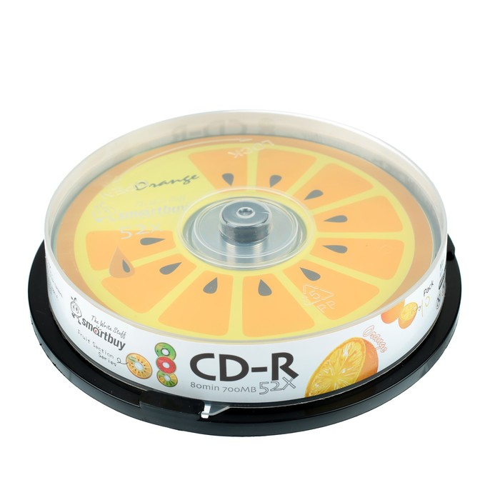 Диск CD-R Smartbuy Fresh-Orange, 52х, 700 Мб, Cake Box, 10 шт