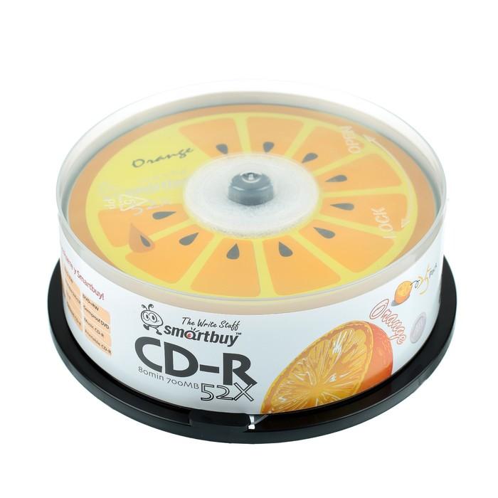 Диск CD-R Smartbuy Fresh-Orange, 52х, 700 Мб, Cake Box, 25 шт