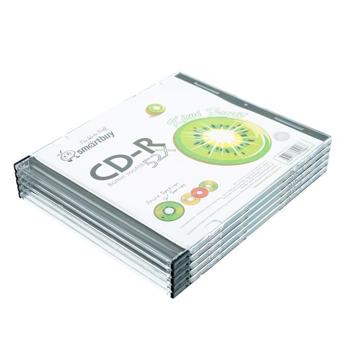 Диск CD-R Smartbuy Fresh-Kiwifruit, 52х, 700 Мб, Slim, 5 шт