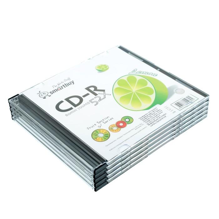 Диск CD-R Smartbuy Fresh-Lemon, 52х, 700 Мб, Slim, 5 шт