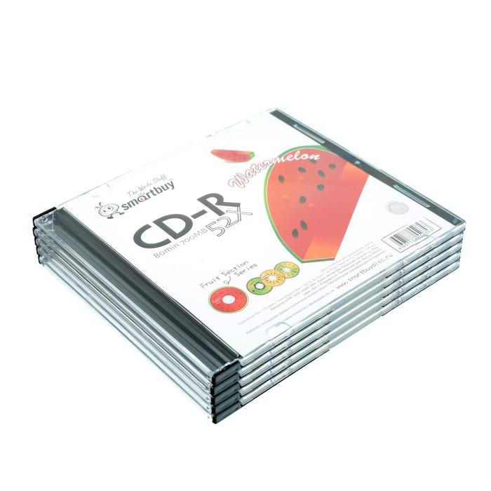 Диск CD-R Smartbuy Fresh-Watermelon, 52х, 700 Мб, Slim, 5 шт
