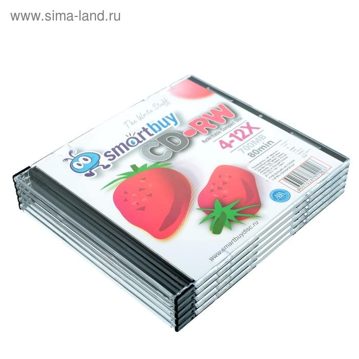 Диск CD-RW Smartbuy, 12х, 700 Мб, Slim, 5 шт