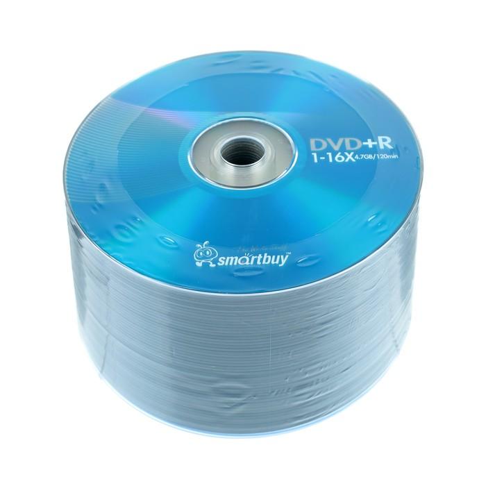Диск DVD+R Smartbuy, 16х, 4,7 Гб, Спайка, 50 шт