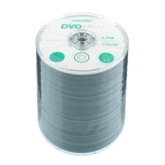 Диск DVD+RW Smartbuy, 4х, 4,7 Гб, Спайка, 100 шт