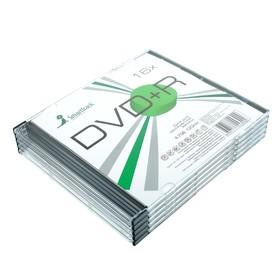 Диск DVD+R SmartTrack, 16x, 4.7 Гб, Slim, 5 шт Ош